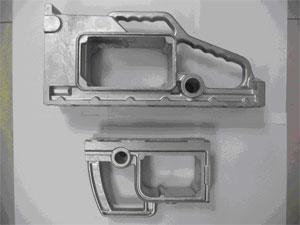 Gehäuse, Aluminium-Legierung, ca. 1,2 und 0,7 kg, roh gegossen, unbearbeitet