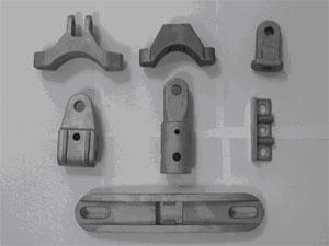Diverse Teile für die Elektro-Industrie, Alu- minium-Legierung, roh gegossen