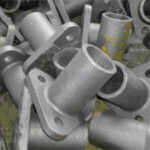 Aufnahme, C-Stahl, ca. 0,6 kg, roh gegos- sen, ohne Bearbeitung