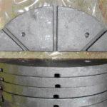 Träger-Platte, St. 52-3, ca. 1,1 kg, Löcher gebohrt, sonst roh, sandgestrahlt