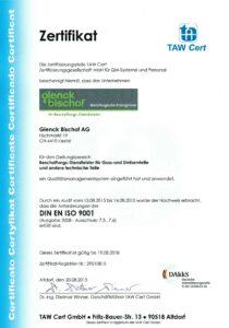 150914 ISO 9001 Zertifikat_Glenck Bischof AG